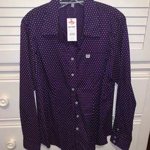NWT XL Cinch button down western rodeo shirt